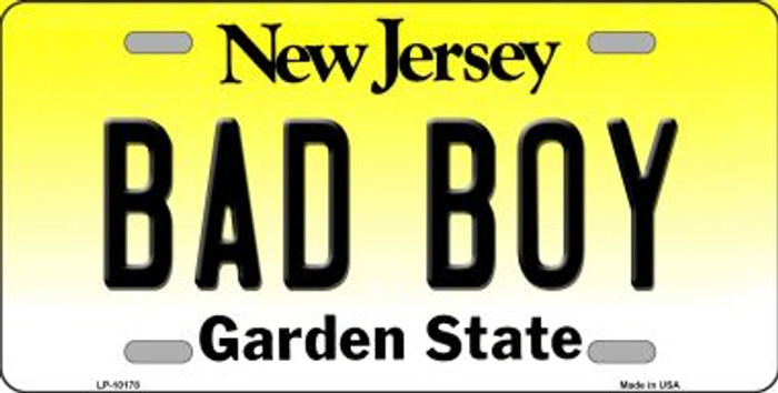 Bad Boy New Jersey Background Novelty Metal License Plate