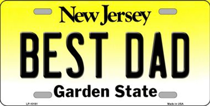 Best Dad New Jersey Background Novelty Metal License Plate