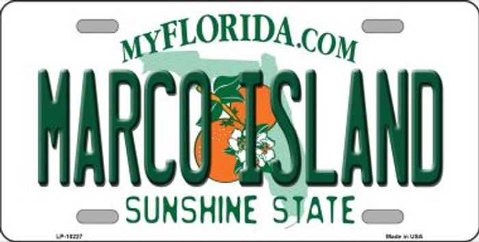 Marco Island Florida Background Novelty Metal License Plate