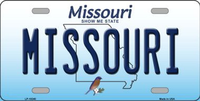 Missouri Background Novelty Metal License Plate