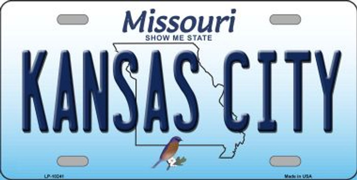 Kansas City Missouri Background Novelty Metal License Plate