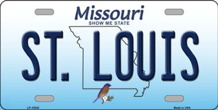St Louis Missouri Background Novelty Metal License Plate