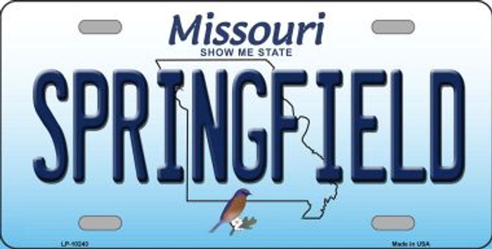 Springfield Missouri Background Novelty Metal License Plate