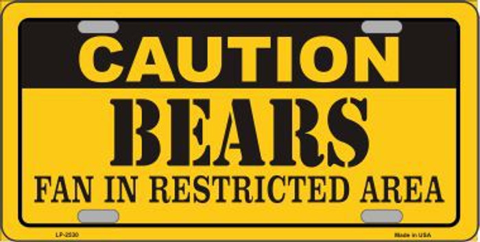 Caution Bears Metal Novelty License Plate