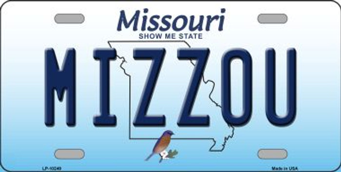 Mizzou Missouri Background Novelty Metal License Plate LP-10249