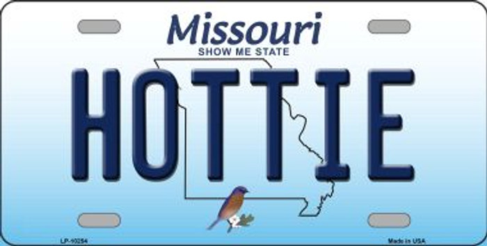 Hottie Missouri Background Novelty Metal License Plate