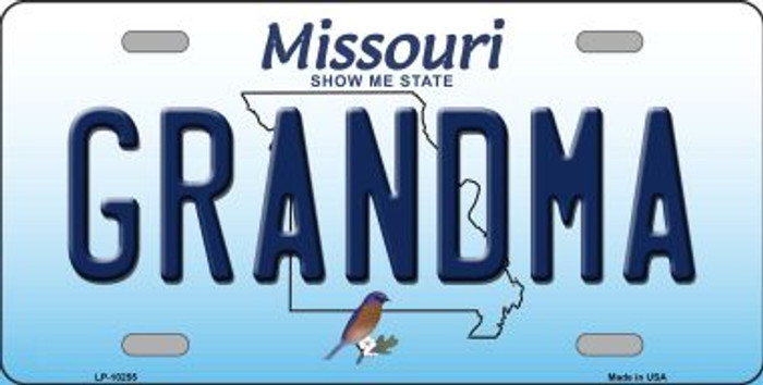 Grandma Missouri Background Novelty Metal License Plate
