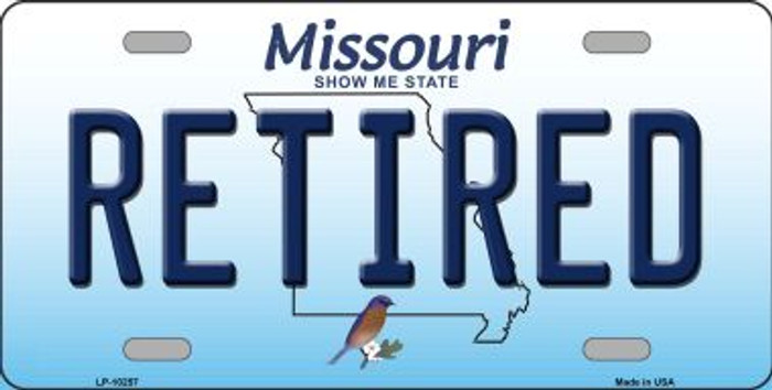 Retired Missouri Background Novelty Metal License Plate
