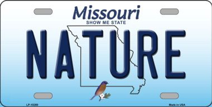 Nature Missouri Background Novelty Metal License Plate