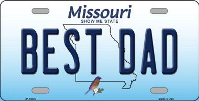 Best Dad Missouri Background Novelty Metal License Plate