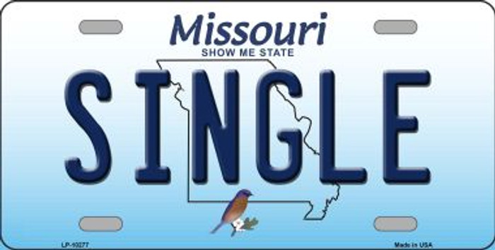 Single Missouri Background Novelty Metal License Plate