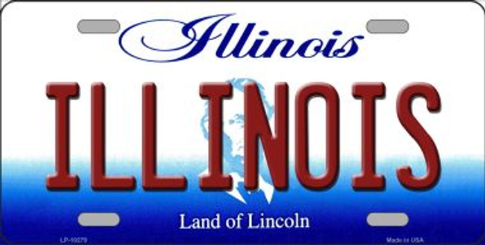 Illinois Background Metal Novelty License Plate