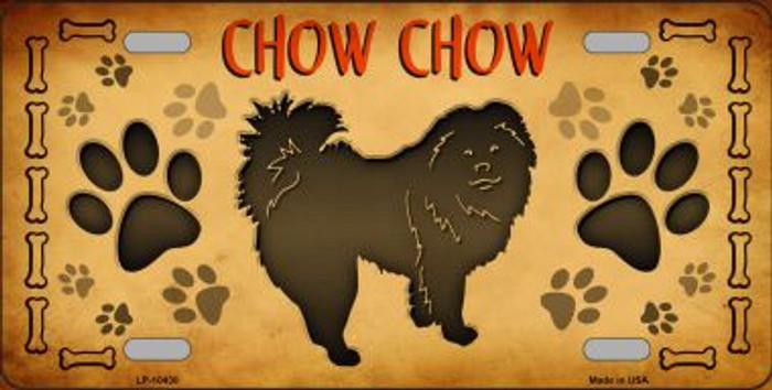 Chow Chow Novelty Metal License Plate