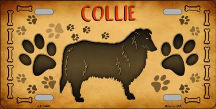 Collie Novelty Metal License Plate