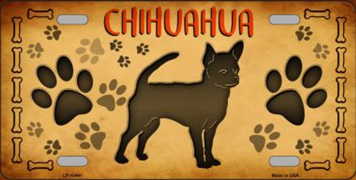 Chihuahua Novelty Metal License Plate