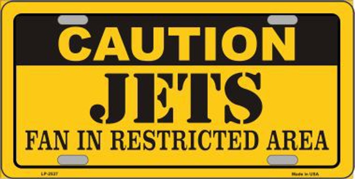 Caution Jets Metal Novelty License Plate