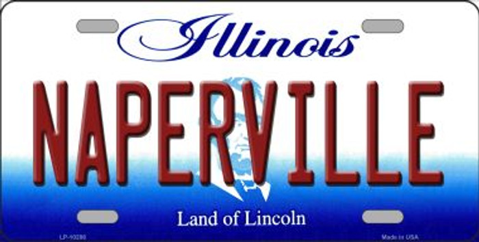 Naperville Illinois Background Metal Novelty License Plate
