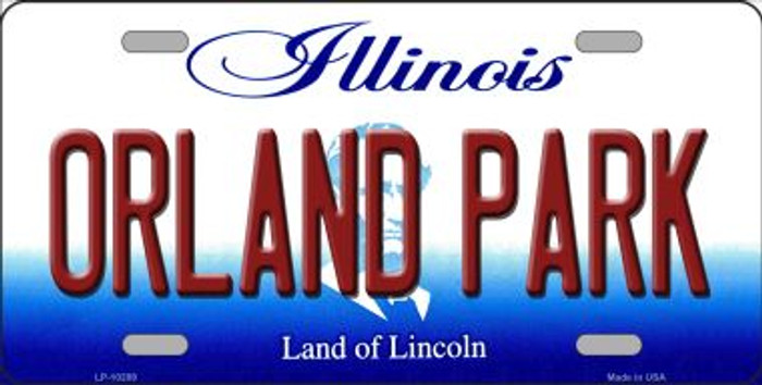 Orland Park Illinois Background Metal Novelty License Plate