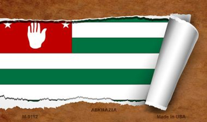 Abkhazia Flag Scroll Wholesale Novelty Metal Magnet