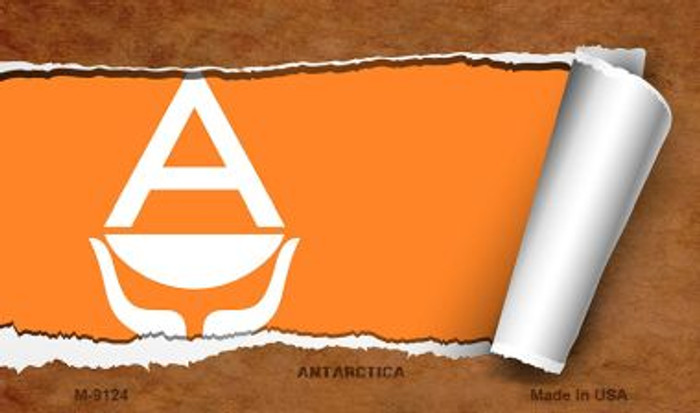 Antarctica Flag Scroll Wholesale Novelty Metal Magnet