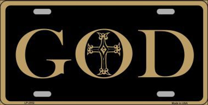 God Metal Novelty License Plate