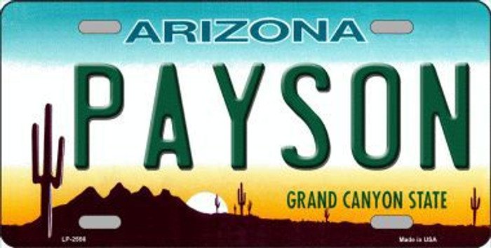 Payson Arizona Novelty Metal License Plate