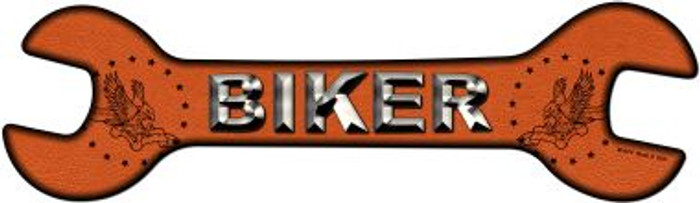 Biker Novelty Metal Wrench Sign