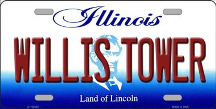 Willis Tower Illinois Background Metal Novelty License Plate