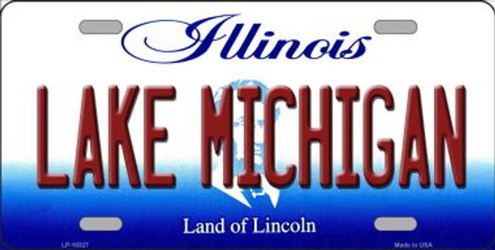 Lake Michigan Illinois Background Metal Novelty License Plate