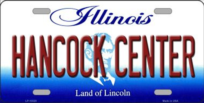 Hancock Center Illinois Background Metal Novelty License Plate