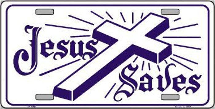Jesus Saves Metal Novelty License Plate