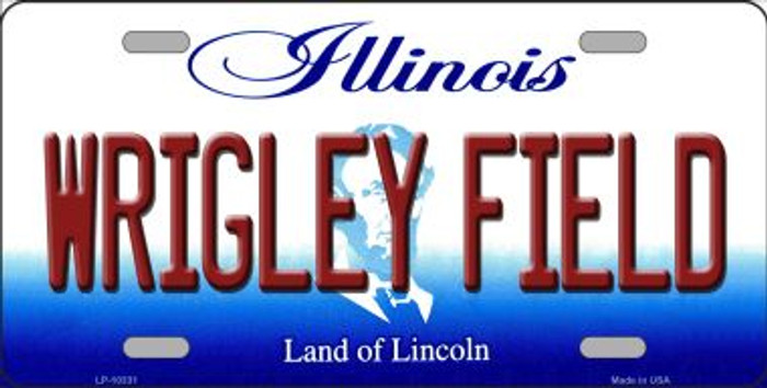 Wrigley Field Illinois Background Metal Novelty License Plate