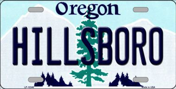 Hillsboro Oregon Background Metal Novelty License Plate