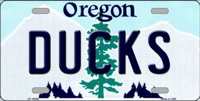 Ducks Oregon Background Metal Novelty License Plate