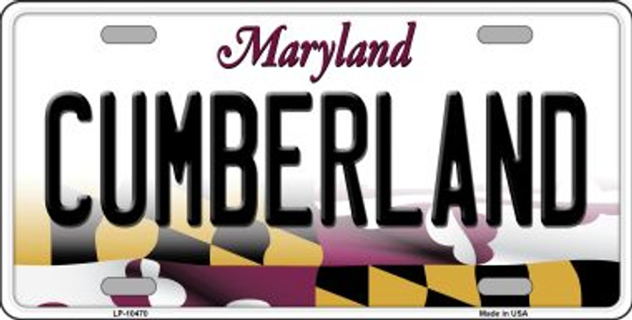 Cumberland Maryland Background Metal Novelty License Plate