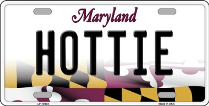 Hottie Maryland Background Metal Novelty License Plate
