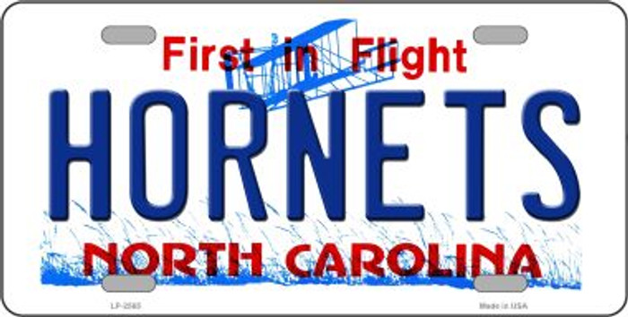 Hornets North Carolina Novelty State Metal License Plate LP-2565