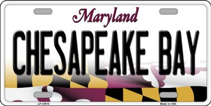 Chesapeake Bay Maryland Background Metal Novelty License Plate