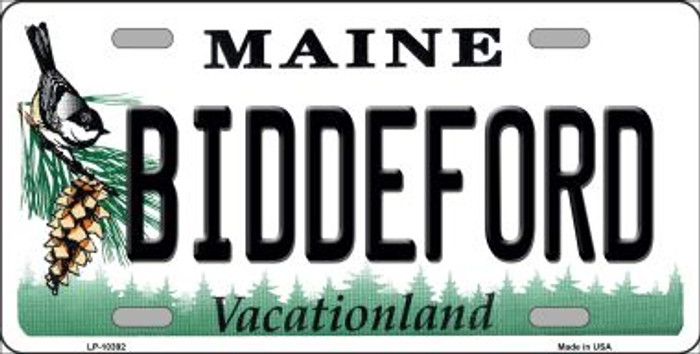 Biddeford Maine Background Metal Novelty License Plate