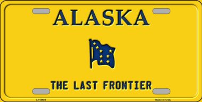 Alaska Background Metal Novelty License Plate
