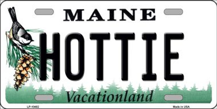 Hottie Maine Background Metal Novelty License Plate