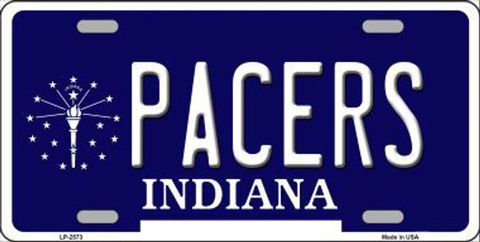 Pacers Indiana Novelty State Background Metal License Plate LP-2573