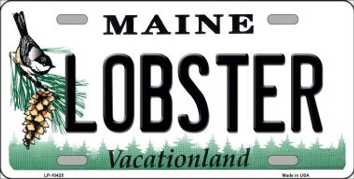 Lobster Maine Background Metal Novelty License Plate