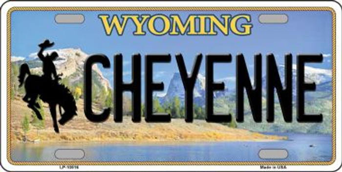 Cheyenne Wyoming Background Metal Novelty License Plate