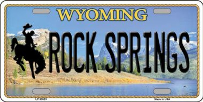 Rock Springs Wyoming Background Metal Novelty License Plate