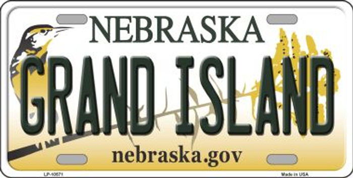 Grand Island Nebraska Background Metal Novelty License Plate