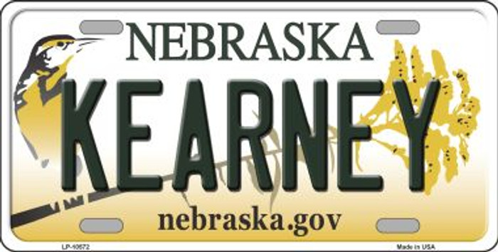 Kearney Nebraska Background Metal Novelty License Plate