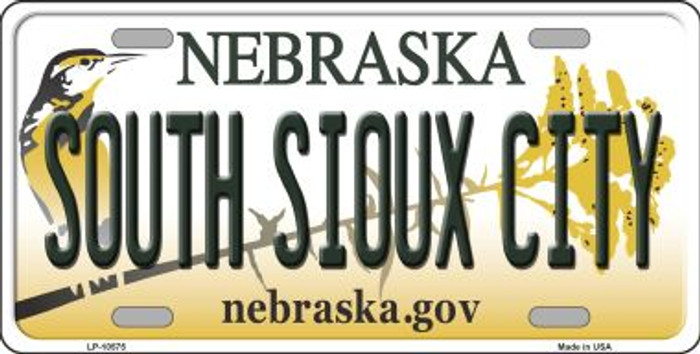 South Sioux City Nebraska Background Metal Novelty License Plate