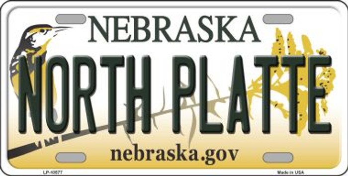 North Platte Nebraska Background Metal Novelty License Plate