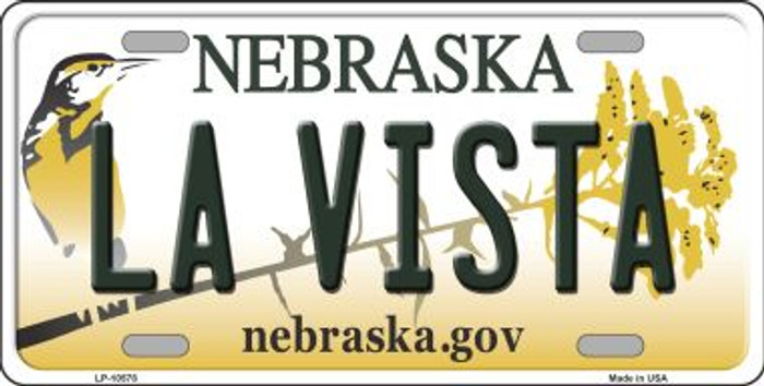 La Vista Nebraska Background Metal Novelty License Plate